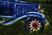 Rims Prints - Funky Old Car Print by Susan Candelario