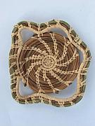 Pine Needle Baskets Art - Funky Rim 1 by Joey Goss