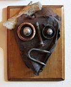 Rusty Sculpture Prints - Funny Bone Print by Snake Jagger