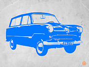 Old Car Art Prints - Funny Car Print by Irina  March
