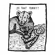 Eat Drawings Prints - Funny Comic Print by Karl Addison