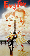 1957 Movies Photo Metal Prints - Funny Face, Audrey Hepburn, Fred Metal Print by Everett