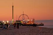 Funtown Pier At Sunset I - Jersey Shore Print by Angie Tirado