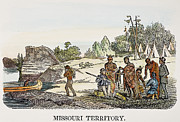 Trader Prints - Fur Traders, 1853 Print by Granger