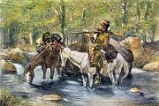 Remington Prints - Fur Trapper Print by Granger