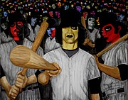 Warriors Paintings - Furies up to Bat by Al  Molina