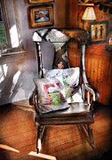 Gift For Dad Posters - Furniture - Chair - Grannies rocking chair  Poster by Mike Savad