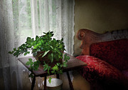 Lace Photos - Furniture - Plant - Ivy in a window  by Mike Savad