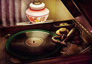 Phonograph Posters - Furniture - Record - Playin the oldies  Poster by Mike Savad