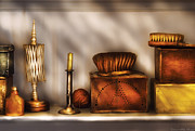 Flea Market Prints - Furniture - Shelf - A collection of curious items Print by Mike Savad