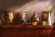 Junk Photos - Furniture - Shelf - Family Heirlooms  by Mike Savad