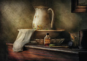 Old Pitcher Photo Prints - Furniture - Table - The Water Pitcher Print by Mike Savad