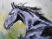 Horse Race Paintings - Fury by Judy Kay