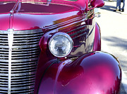 Fuschia Posters - Fuschia Chevy Rod Poster by Richard Gregurich