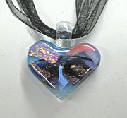 Valentine Jewelry - Fused Glass Heart by Alice Benvie Gebhart