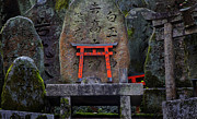 Shrine Photo Originals - Fushimi-inra Shrine Torii Detail by Don Jacobson