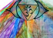 Chakra Rainbow Painting Originals - Fusion of Light and Energy by Laree Alexander