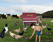 Boy Digital Art Originals - Future Farmer by CDK Surrett