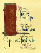 Bible Mixed Media Metal Prints - Future Hope I Metal Print by Judy Dodds