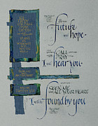 Strong Mixed Media Framed Prints - Future Hope II Framed Print by Judy Dodds