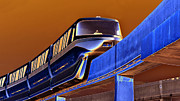 Creative Photography Posters - Future Monorail Poster by David Lee Thompson
