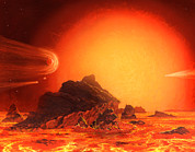 Red Giant Photos - Future Red Giant Sun by Chris Butler