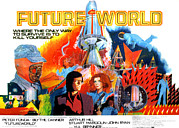 1970s Poster Art Photos - Futureworld, Center, From Left Peter by Everett