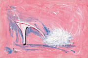 Shoe Paintings - Fuzzy Comfort by Richard De Wolfe