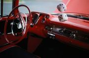 Decade Photo Framed Prints - Fuzzy Dice And Cherry Red Interior Framed Print by Stephen St. John