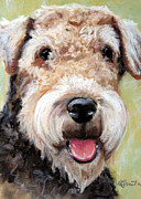Puppies Art - Fuzzy Was He by Mary Sparrow Smith