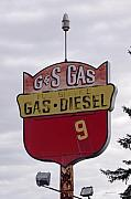 Old Signs Prints - G - S Gas - Sorry We are Closed Print by Gary Gunderson