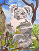 Koala Paintings - G Day Mate by Phyllis Kaltenbach