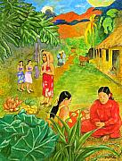 Children Book Paintings - G is for Gauguin... by Will Bullas
