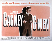 Lobbycard Framed Prints - G-men, James Cagney, 1935 Framed Print by Everett
