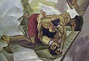 Ufc Paintings - G R A P P L E    by Zach Sawan