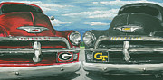 Redneck Painting Posters - GA vs Ga Tech  Poster by James Norris