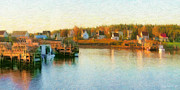 Fishing Village Digital Art - Gabarus Nova Scotia Canada by Shawna Mac