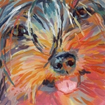 Yorkshire Terrier Metal Prints - Gabby Metal Print by Kimberly Santini