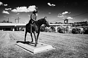 Gabriel Photo Posters - gabriel dumont on his horse sculpture friendship park cbd Saskatoon Saskatchewan Canada Poster by Joe Fox