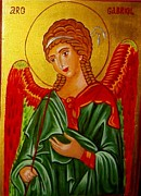 Orthodox Icons Paintings - Gabriel by Margo Hiotis