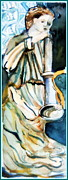Bible Drawings Metal Prints - Gabriel Metal Print by Mindy Newman