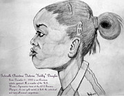 Olympics Drawings - Gabrielle Christina Victoria Gabby Douglas by Donald William