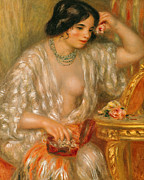 Jewels Art - Gabrielle with Jewellery by Pierre Auguste Renoir