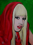 Lady Gaga Painting Prints - Gaga Hood Print by Pete Maier
