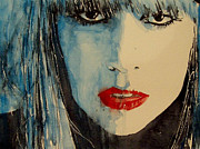 Lady Gaga Painting Posters - Gaga Poster by Paul Lovering
