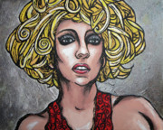 Lady Gaga Paintings - Gaga by Sarah Crumpler