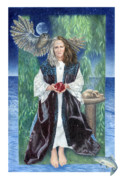 High Priestess Prints - Gaian Tarot High Priestess Print by Joanna Powell Colbert