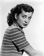 Striped Shirt Posters - Gail Russell, 1950 Poster by Everett