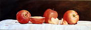 Gala Painting Framed Prints - Gala Apples Framed Print by Grazyna Wolski