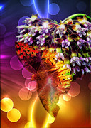 Galactic Digital Art - Galactic Butterfly Effect by Bill Tiepelman